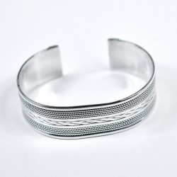 Wide Sterling Silver Cuff Bangle Handmade 925 Sterling Silver Jewelry Manufacture Silver Jewelry