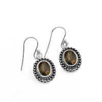 Beautiful Yellow Citrine 925 Sterling Silver handmade Earring Women Jewelry