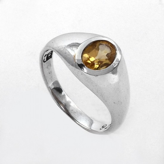 Yellow Citrine Ring Women Handcrafted Silver Jewellery 925 Sterling Silver Ring Jewellery For Her